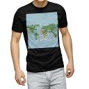 tシャツ メンズ 半袖 ブラック デザイン XS S M L XL 2XL Tシャツ ティーシャツ T shirt 黒 015997 世界地図 wordmap カラフル