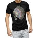 tシャツ メンズ 半袖 ブラック デザイン XS S M L XL 2XL Tシャツ ティーシャツ T shirt 黒 016155 民族 外国