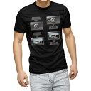 ショッピングドライブレコーダー tシャツ メンズ 半袖 ブラック デザイン XS S M L XL 2XL Tシャツ ティーシャツ T shirt 黒 016169 ドライブレコーダー