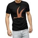 ショッピング恐竜 Tシャツ メンズ 半袖 ブラック デザイン XS S M L XL 2XL Tシャツ ティーシャツ T shirt 黒 017693 恐竜 プテラノドン Pteranodon 恐竜
