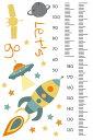 ウォールステッカー 身長計 記念 目盛り 子供部屋 宇宙 男の子 北欧 90×60cm シール式 装飾 おしゃれ 壁紙 はがせる 剥がせる カッティングシート wall sticker 雑貨 ガラス 窓 DIY プチリフォーム