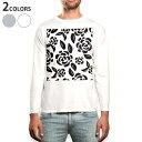 ショッピングロング ロング tシャツ メンズ 長袖 ホワイト グレー デザイン XS S M L XL 2XL Tシャツ ティーシャツ T shirt long sleeve 050791