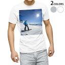 ショッピング雪 tシャツ メンズ 半袖 ホワイト グレー デザイン XS S M L XL 2XL Tシャツ ティーシャツ T shirt 000286 スノーボード 雪景色 雪 スポーツ