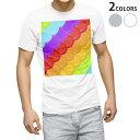 ショッピングウロコ tシャツ メンズ 半袖 ホワイト グレー デザイン XS S M L XL 2XL Tシャツ ティーシャツ T shirt 000450 カラフル うろこ 虹