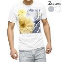 tシャツ メンズ 半袖 ホワイト グレー デザイン XS S M L XL 2XL Tシャツ ティーシャツ T shirt 000924 花 キーボード