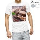 ショッピングマカロン tシャツ メンズ 半袖 ホワイト グレー デザイン XS S M L XL 2XL Tシャツ ティーシャツ T shirt 001014 マカロン チョコレート