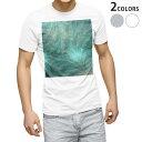 ショッピングデザイン tシャツ メンズ 半袖 ホワイト グレー デザイン XS S M L XL 2XL Tシャツ ティーシャツ T shirt 001808 植物 緑 シンプル