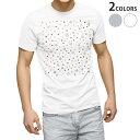 ショッピング半袖 tシャツ メンズ 半袖 ホワイト グレー デザイン XS S M L XL 2XL Tシャツ ティーシャツ T shirt 002410 模様 水玉