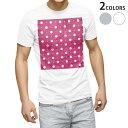 ショッピングTシャツ tシャツ メンズ 半袖 ホワイト グレー デザイン XS S M L XL 2XL Tシャツ ティーシャツ T shirt 002423 水玉 ドット ピンク