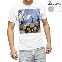ショッピング写真 tシャツ メンズ 半袖 ホワイト グレー デザイン XS S M L XL 2XL Tシャツ ティーシャツ T shirt 002647 景色 風景 写真
