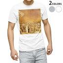 tシャツ メンズ 半袖 ホワイト グレー デザイン XS S M L XL 2XL Tシャツ ティーシャツ T shirt 003251 外国 絵画 イラスト