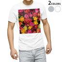 ショッピングII tシャツ メンズ 半袖 ホワイト グレー デザイン XS S M L XL 2XL Tシャツ ティーシャツ T shirt 003427 花 カラフル 写真