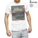 tシャツ メンズ 半袖 ホワイト グレー デザイン XS S M L XL 2XL Tシャツ ティーシャツ T shirt 003822 迷彩 カモフラ 模様
