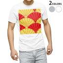 ショッピング和柄 tシャツ メンズ 半袖 ホワイト グレー デザイン XS S M L XL 2XL Tシャツ ティーシャツ T shirt 004180 和風 和柄 赤