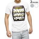 ショッピングイラスト tシャツ メンズ 半袖 ホワイト グレー デザイン XS S M L XL 2XL Tシャツ ティーシャツ T shirt 005303 ビール 樽 イラスト