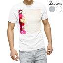 ショッピング花 tシャツ メンズ 半袖 ホワイト グレー デザイン XS S M L XL 2XL Tシャツ ティーシャツ T shirt 005324 花 ハイビスカス ピンク