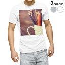 ショッピング色鉛筆 tシャツ メンズ 半袖 ホワイト グレー デザイン XS S M L XL 2XL Tシャツ ティーシャツ T shirt 006471 写真 色鉛筆