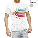 ショッピング星 tシャツ メンズ 半袖 ホワイト グレー デザイン XS S M L XL 2XL Tシャツ ティーシャツ T shirt 006577 カラフル 星