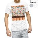 ショッピングイラスト tシャツ メンズ 半袖 ホワイト グレー デザイン XS S M L XL 2XL Tシャツ ティーシャツ T shirt 006691 のりもの 乗り物 イラスト