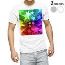 ショッピング星 tシャツ メンズ 半袖 ホワイト グレー デザイン XS S M L XL 2XL Tシャツ ティーシャツ T shirt 006745 星 スター レインボー