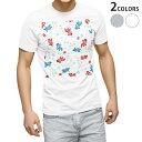 ショッピング金魚 tシャツ メンズ 半袖 ホワイト グレー デザイン XS S M L XL 2XL Tシャツ ティーシャツ T shirt 007931 金魚 きんぎょ イラスト 赤 青