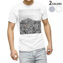 ショッピングイラスト tシャツ メンズ 半袖 ホワイト グレー デザイン XS S M L XL 2XL Tシャツ ティーシャツ T shirt 008131 白黒 迷路 イラスト