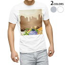 ショッピングイラスト tシャツ メンズ 半袖 ホワイト グレー デザイン XS S M L XL 2XL Tシャツ ティーシャツ T shirt 008323 イラスト お菓子 スイーツ 星 スター