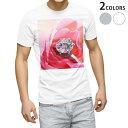 ショッピング写真 tシャツ メンズ 半袖 ホワイト グレー デザイン XS S M L XL 2XL Tシャツ ティーシャツ T shirt 008706 写真 花 フラワー 指輪 ダイヤ