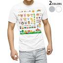 ショッピングおもちゃ tシャツ メンズ 半袖 ホワイト グレー デザイン XS S M L XL 2XL Tシャツ ティーシャツ T shirt 008737 イラスト おもちゃ 子供