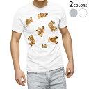 ショッピングイラスト tシャツ メンズ 半袖 ホワイト グレー デザイン XS S M L XL 2XL Tシャツ ティーシャツ T shirt 008738 テディベア イラスト 模様