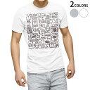 ショッピングラジオ tシャツ メンズ 半袖 ホワイト グレー デザイン XS S M L XL 2XL Tシャツ ティーシャツ T shirt 008788 白黒 イラスト ラジオ