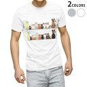 ショッピング犬 tシャツ メンズ 半袖 ホワイト グレー デザイン XS S M L XL 2XL Tシャツ ティーシャツ T shirt 009614 犬 動物 キャラクター