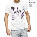 ショッピングデザイン tシャツ メンズ 半袖 ホワイト グレー デザイン XS S M L XL 2XL Tシャツ ティーシャツ T shirt 009774 おしゃれ アンティーク 紫