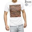 ショッピング写真 tシャツ メンズ 半袖 ホワイト グレー デザイン XS S M L XL 2XL Tシャツ ティーシャツ T shirt 010026 レンガ 模様 写真