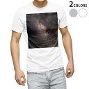 ショッピング写真 tシャツ メンズ 半袖 ホワイト グレー デザイン XS S M L XL 2XL Tシャツ ティーシャツ T shirt 010192 宇宙 空 写真