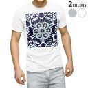 ショッピング雪 tシャツ メンズ 半袖 ホワイト グレー デザイン XS S M L XL 2XL Tシャツ ティーシャツ T shirt 010875 雪 結晶 紺色
