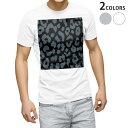 ショッピング半袖 tシャツ メンズ 半袖 ホワイト グレー デザイン XS S M L XL 2XL Tシャツ ティーシャツ T shirt 011585 ヒョウ柄 アニマル柄 黒