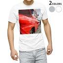 ショッピング写真 tシャツ メンズ 半袖 ホワイト グレー デザイン XS S M L XL 2XL Tシャツ ティーシャツ T shirt 011795 外国 車 写真