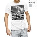 ショッピングモノトーン tシャツ メンズ 半袖 ホワイト グレー デザイン XS S M L XL 2XL Tシャツ ティーシャツ T shirt 011903 飛行機 モノトーン 空