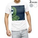 ショッピングTシャツ tシャツ メンズ 半袖 ホワイト グレー デザイン XS S M L XL 2XL Tシャツ ティーシャツ T shirt 012010 女性 イラスト おしゃれ