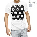 ショッピングモノトーン tシャツ メンズ 半袖 ホワイト グレー デザイン XS S M L XL 2XL Tシャツ ティーシャツ T shirt 012468 モノトーン 柄 白黒