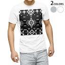 tシャツ メンズ 半袖 ホワイト グレー デザイン XS S M L XL 2XL Tシャツ ティーシャツ T shirt 012492 モノトーン ノルディック 柄