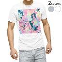 ショッピングXL tシャツ メンズ 半袖 ホワイト グレー デザイン XS S M L XL 2XL Tシャツ ティーシャツ T shirt 012560 カラフル 柄 ピンク