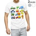 ショッピング車 tシャツ メンズ 半袖 ホワイト グレー デザイン XS S M L XL 2XL Tシャツ ティーシャツ T shirt 013189 乗り物 飛行機 救急車