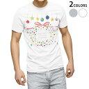 ショッピングクリスマスリース tシャツ メンズ 半袖 ホワイト グレー デザイン XS S M L XL 2XL Tシャツ ティーシャツ T shirt 013818 クリスマス リース リボン