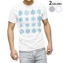 ショッピングTシャツ tシャツ メンズ 半袖 ホワイト グレー デザイン XS S M L XL 2XL Tシャツ ティーシャツ T shirt 013849 雪 結晶