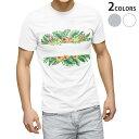 tシャツ メンズ 半袖 ホワイト グレー デザイン XS S M L XL 2XL Tシャツ ティーシャツ T shirt 013883 ハイビスカス 花