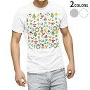 ショッピングクリスマスリース tシャツ メンズ 半袖 ホワイト グレー デザイン XS S M L XL 2XL Tシャツ ティーシャツ T shirt 014092 クリスマス リース トナカイ