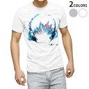 ショッピングヘッドホン tシャツ メンズ 半袖 ホワイト グレー デザイン XS S M L XL 2XL Tシャツ ティーシャツ T shirt 014180 ヘッドホン 音楽 風景