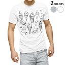 ショッピングイス tシャツ メンズ 半袖 ホワイト グレー デザイン XS S M L XL 2XL Tシャツ ティーシャツ T shirt 014238 アイス イチゴ フルーツ